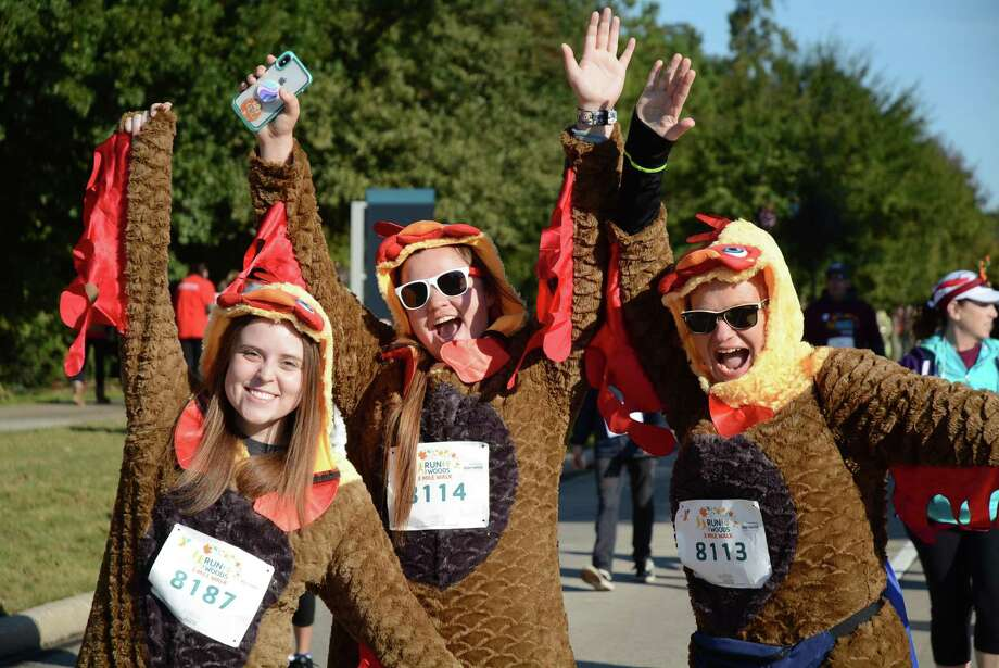 The community staple for Thanksgiving Day, the YMCA Run Through The Woods race, is set for Nov. 28, with three starting race times: 7:30 a.m., 8:15 a.m., and 8:25 a.m. Registration for the run is open through Nov. 27. Photo: Courtesy Images YMCA Of The Woodlands / Courtesy Images YMCA Of The Woodlands