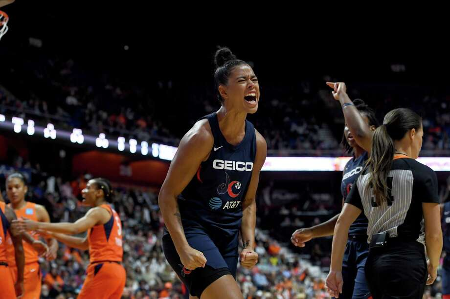 "The Mystics' Natasha Cloud said the Sun is ""not a great defensive team. We can pick them apart."" Photo: Washington Post Photo By Katherine Frey / The Washington Post"