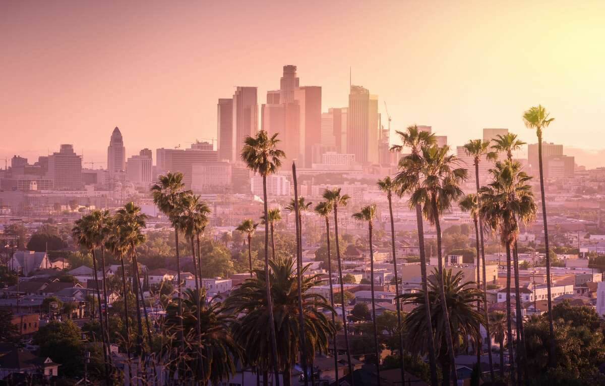 Los Angeles downtown skyline. Last week, Connecticut simplified its travel advisory enabling all travelers visiting or returning to the state to provide a negative COVID-19 test result obtained within 72 hours prior to or upon arrival to avoid the state's 14-day quarantine.