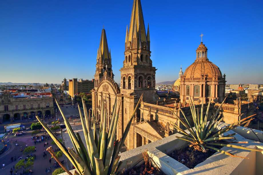 Guadalajara, Mexico Take off to visit the Guadalajara Cathedral in western Mexico for$97.49. The fare is available on Sat., March 21 for a 2:15 p.m. flight out of San Antonio. Interjet will deposit you in the country's second largest city at 3:20 p.m. Photo: Elijah-Lovkoff/Getty Images/iStockphoto
