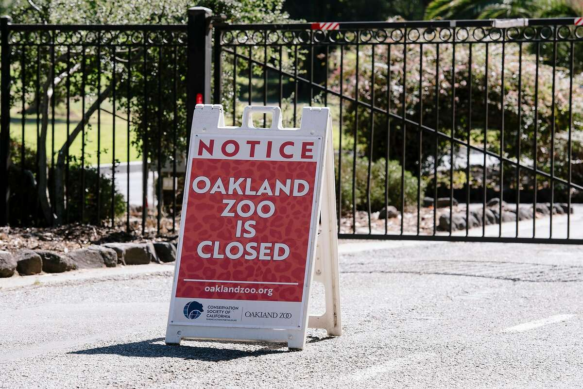The Oakland Zoo preemptively closed in the face of scheduled power outages in Oakland, California, on Friday, Oct. 9, 2019.