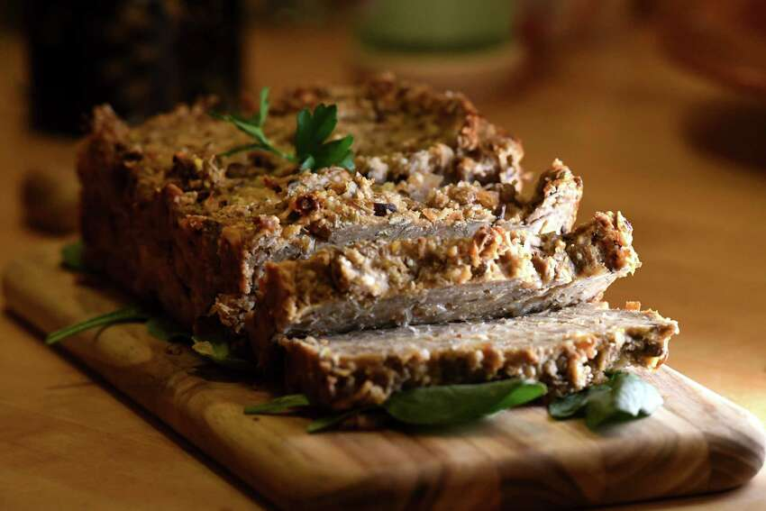 Vegetarian meatloaf with lentils and Shiitake mushrooms from Caroline Barrett on Wednesday, Oct. 2, 2019, at her home in Delmar, N.Y. (Will Waldron/Times Union)