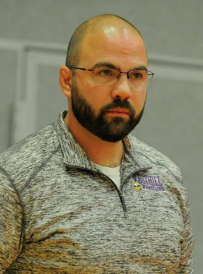 Tom Pereira Westhill Wrestling Coach File image from Feb. 1, 2017 Photo: Matthew Brown / Hearst Connecticut Media / Stamford Advocate