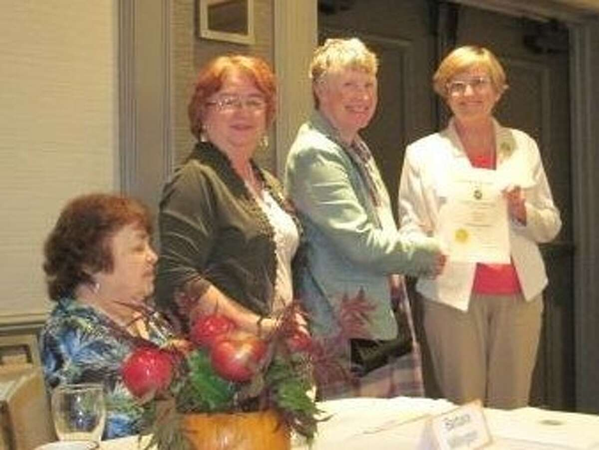 """District IV of the Federated Garden Club recently gathered for their fall meeting at the Holiday Inn in Saratoga. The event entitled """"Apples, Pumpkins and Leaves, Oh My!"""" was planned by the Schuylerville Garden Club and attended by members from six clubs in the region and Victoria Bellias, NYS Federated Garden Club president."""