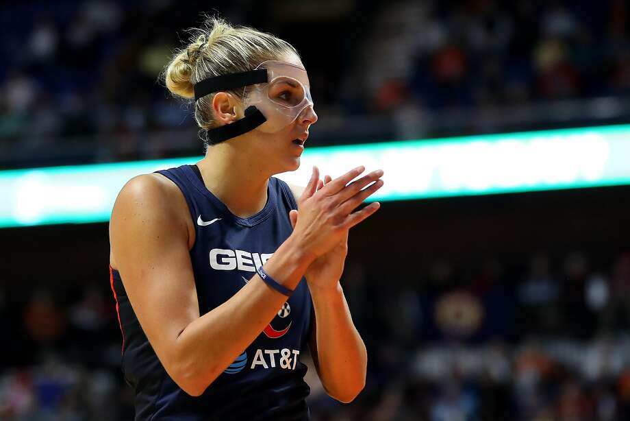 Mystics' Elena Delle Donne, the league MVP, has been hampered by a back injury. Photo: Maddie Meyer / Getty Images