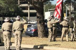 The Midland County Sheriff's Office held a remembrance ceremony for Sgt. Mike Naylor on Wednesday. Naylor was killed five years ago by an individual he was checking on during a mental health call, Capt. Donald Graham said. Graham spoke at the ceremony, and afterward, MCSO officers lowered and folded the American flag that was hanging outside the sheriff's office. A story about the ceremony will appear later this week.