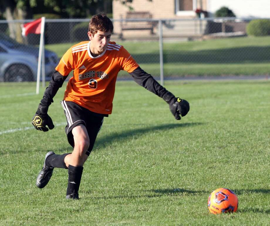 Harbor Beach secures a 2-0 win over Saginaw Nouvel on Wednesday, Oct. 9. Photo: Eric Rutter / Huron Daily Tribune