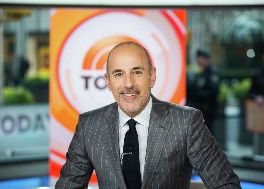 "This Nov. 8, 2017 photo released by NBC shows Matt Lauer on the set of the ""Today"" show in New York. A woman who worked with NBC at the Sochi Olympics claims she was raped by former anchor Lauer at a hotel there, an encounter the former ""Today"" show host says was consensual.  The woman made her claim in Ronan Farrow's book, ""Catch and Kill,"" a copy of which was obtained by Variety. Lauer was fired by NBC in 2017 for what it called inappropriate sexual conduct. (Nathan Congleton/NBC via AP) Photo: Nathan Congleton / 2017 NBCUniversal Media, LLC."