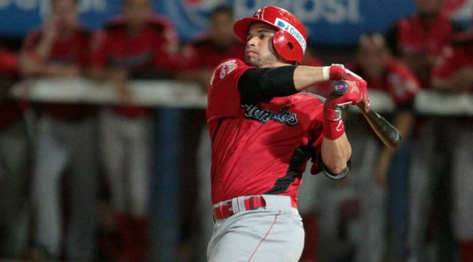 Jairo Perez hit .304 in 13 games with Campeche, and he also hit .304 in 37 games for Tabasco in 2018. Photo: Courtesy Of The Tecolotes Dos Laredos