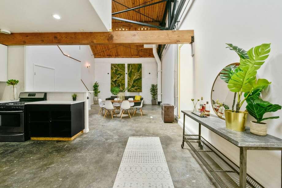 Asking $619K is the West Oakland converted loft Photo:  Sai Kopacek/Caldecott
