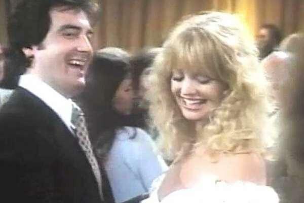 "Robert Hanley in a scene with Goldie Hawn in ""Private Benjamin."""