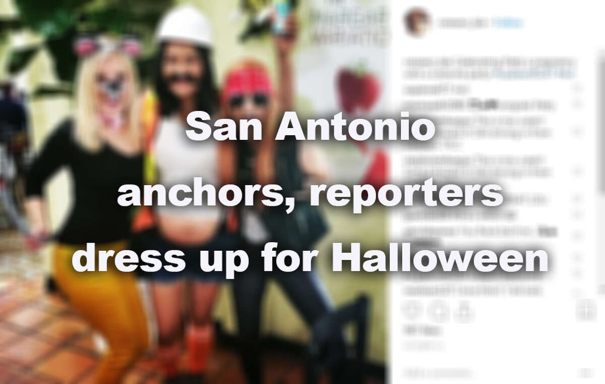 Click through the gallery to see how San Antonio anchors, reporters dressed up for Halloween