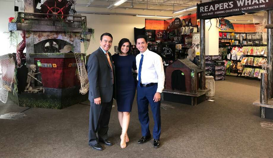 Meet Fox News at Nine anchors Ryan Wolf, Camilla Rambaldi and chief meteorologist Alex Garcia at the 'Tacos or Treats Halloween Eve Bash' on October 30. Photo: Courtesy