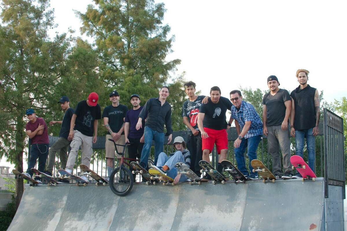 Skateboard and freestyle BMX bike enthusiasts are lobbying for an additional skatepark in Pasadena. A petition advocating a new park had more than 1,500 signatures as of Oct. 8. David B. Garza, sixth from left, is spearheading a petition drive requesting that the city of Pasadena build a new skatepark.