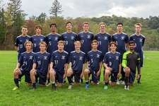 The seniors on this year's Wilton High boys soccer team will be recognized 30 minutes before the start of tonight's Senior Night game (6:30 p.m.) against Brien McMahon at Kristine Lilly Field. Front row (left to right): Michael Zizzadoro, Connor Uitterdijk, Luke Macdonald, Liam McLaughlin, Philip Klinga, Liam McGovern, Rishabh Raniwala; back row: Ryan Vanderwall, Gonzalo Alonso Alvarez, Rohit Singhal, Damien Schmidt, Karl Pfeiffer, Parker Ward, Larry Huang, and Isaac Quantock.