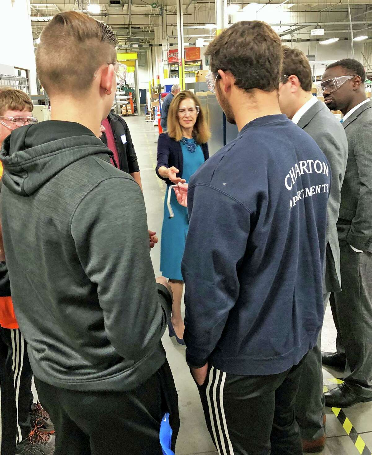 Lawmakers took a tour of Pegasus Manufacturing in Middletown recently.