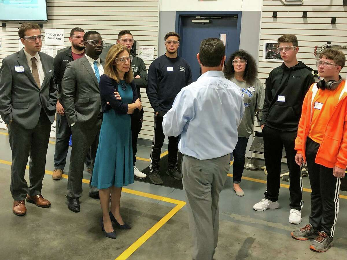Lt. Gov. Bysiewicz, state Sen. Matt Lesser and state Rep. Quentin Phipps visited Pegasus Manufacturing in Middletown last week.