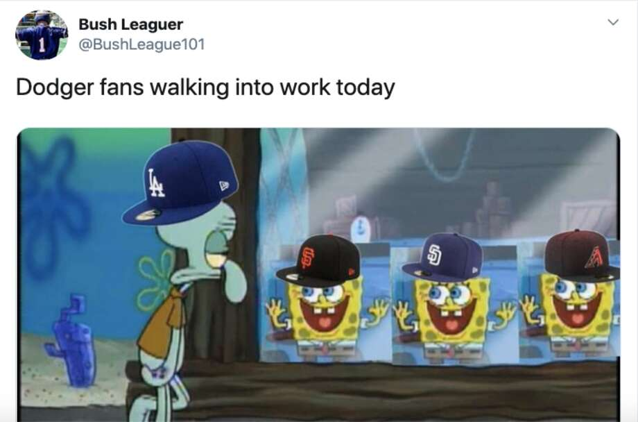 The Los Angeles Dodgers were thoroughly roasted by fans of other teams after another October collapse. Photo: Twitter