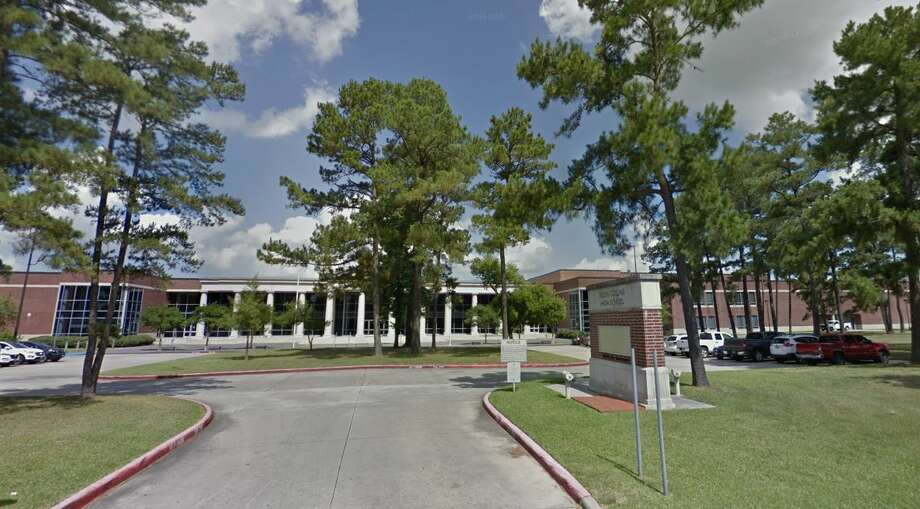 The front entrance to Klein Collins High School Photo: Google Earth