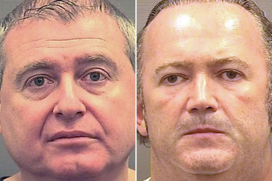 Associates of President Trump's lawyer Rudy Giuliani, Lev Parnas, left, and Igor Fruman were arrested Oct. 9, 2019, on campaign finance charges Photo: Sheriff's Office Of Alexandria, Virginia / Handout