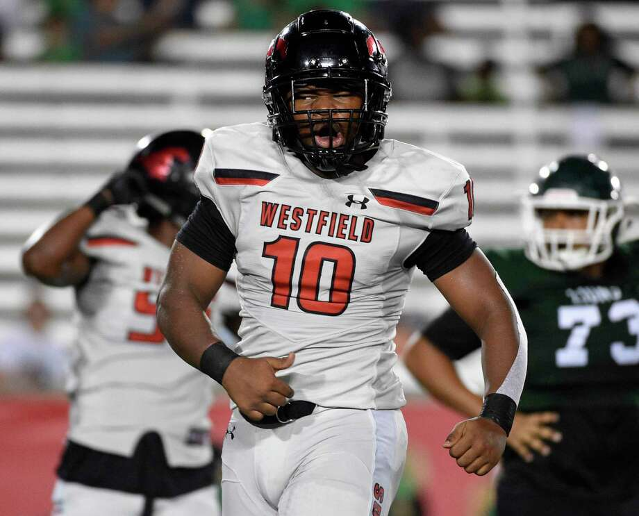 Westfield sophomore defensive end A.J. Holmes (10) was named the 2019 District 16-6A Defensive Newcomer of the Year. Photo: Eric Christian Smith / Contributor / Houston Chronicle