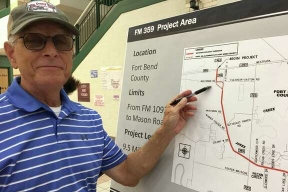 Rip Blackwood, who moved to the west Fort Bend County area early in the summer, favors the Texas Department of Transportation realigning the FM 359 curve at McKinnon Road and Fulshear-Gaston Road.