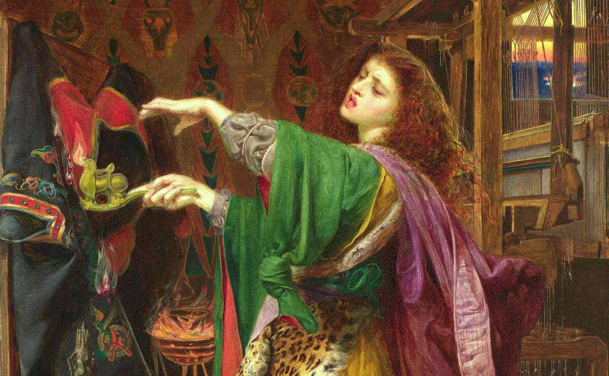 """Frederick Sandys' 1864 painting """"Morgan le Fay"""" is on display at the San Antonio Museum of Art as part of the exhibit """"Victorian Radicals: From the Pre-Raphaelites to the Arts and Crafts Movement."""""""