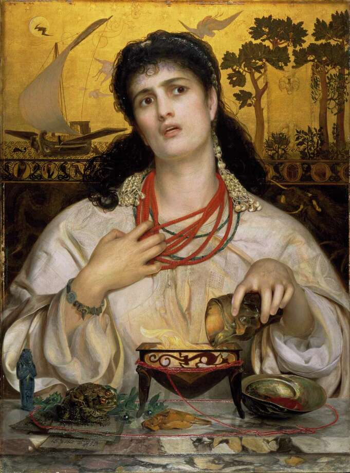 """Frederick Sandys' """"Medea"""" is on exhibit at the San Antonio Museum of Art. Twelve museums are joining forces for Museum Month — an event that's easy on the eyes. Photo: Birmingham Museums Trust"""
