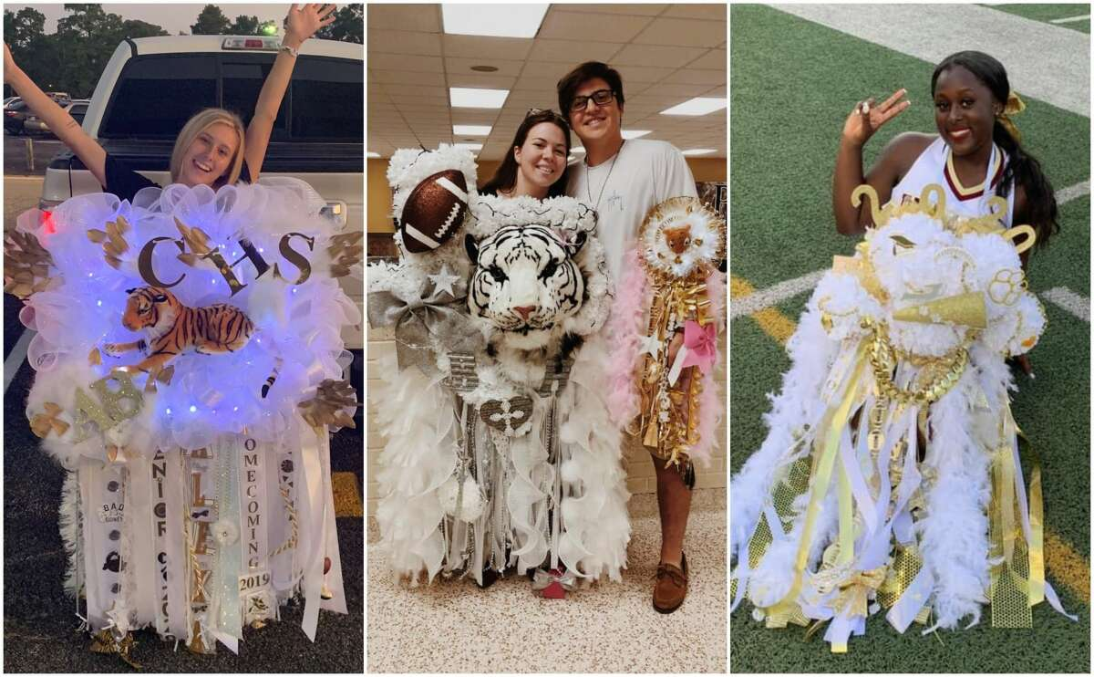 PHOTOS: Texas-sized homecoming mumsHomecoming season is officially underway in Texas, and the Houston-area is celebrating in a big way.>>>Click through the photos to see over-the-top homecoming mums from Houston-area students...