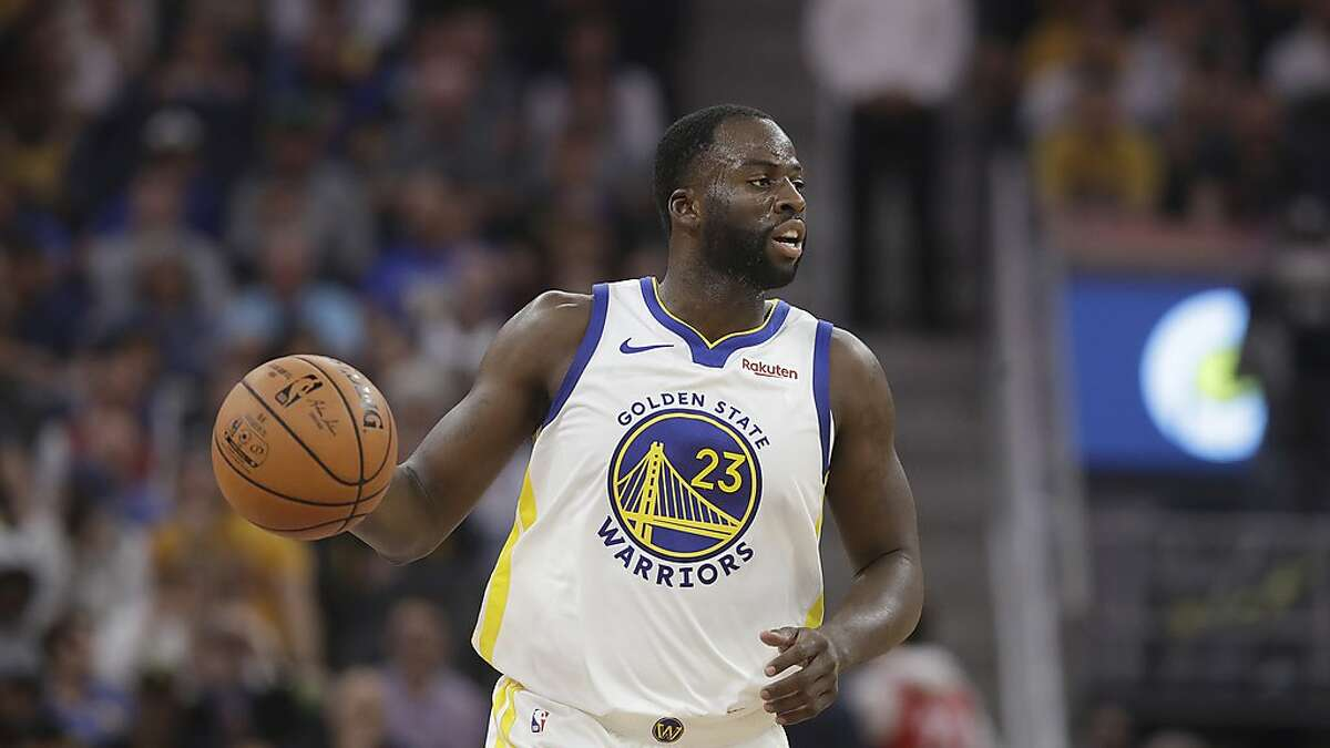 Golden State Warriors forward Draymond Green (23) against the Los Angeles Lakers during a preseason NBA basketball game in San Francisco, Saturday, Oct. 5, 2019. (AP Photo/Jeff Chiu)
