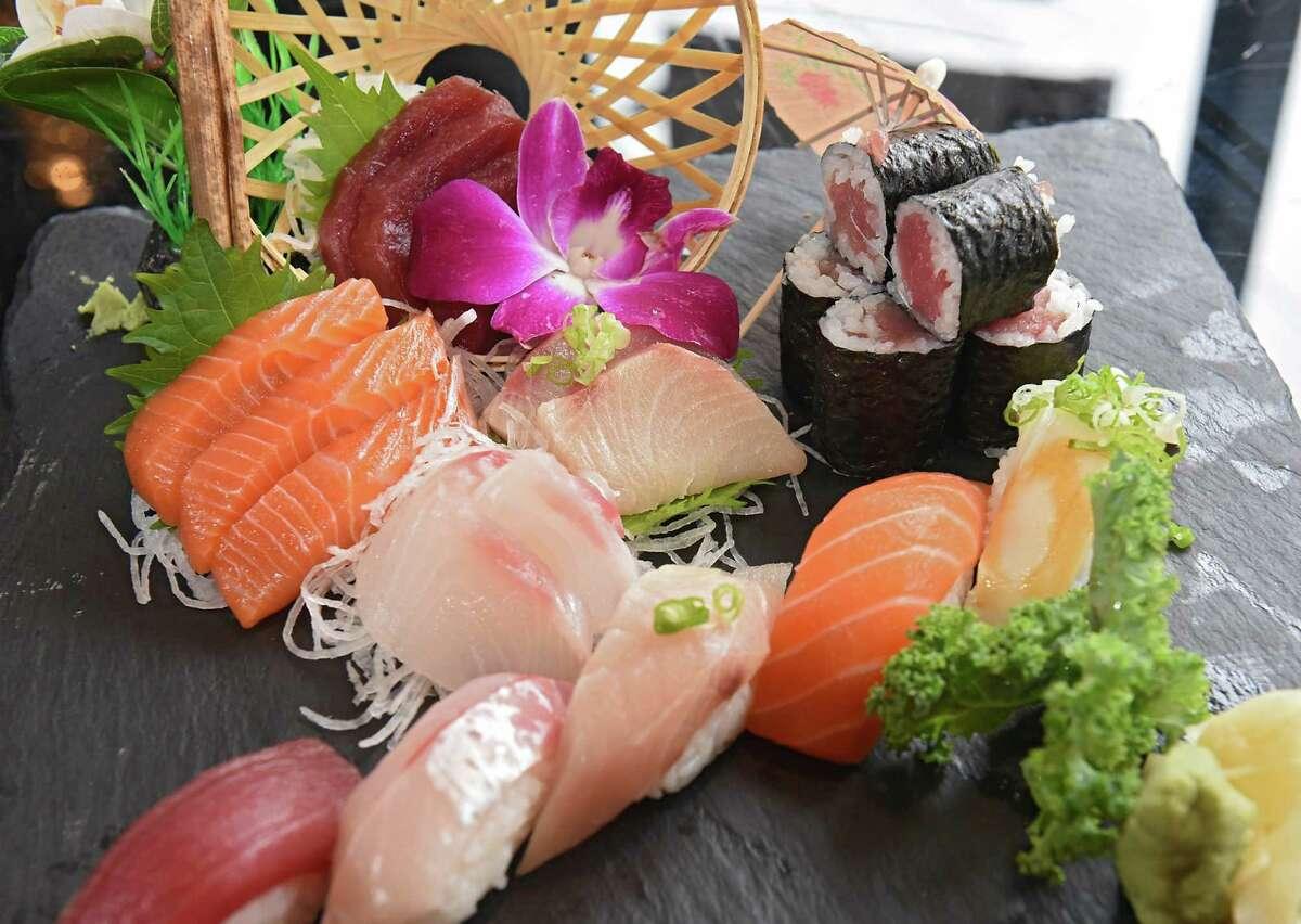 Sushi and sashimi combination at Unagi Sushi on Wednesday, Oct. 2, 2019 in Troy, N.Y. (Lori Van Buren/Times Union)