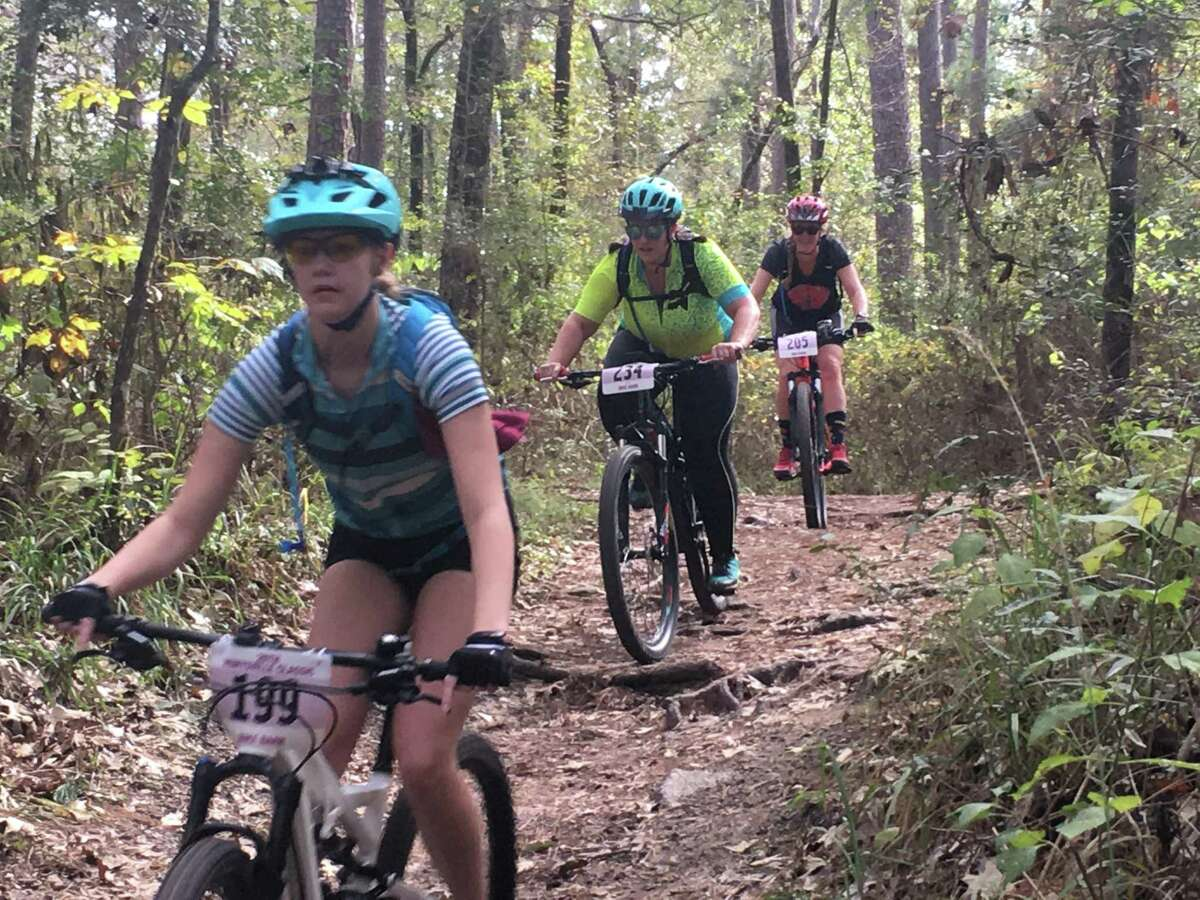 Off-road biking in The Woodlands also requires safety practices, including wearing helmets and being aware of surroundings such as bushes, trees and other riders or pedestrians on trails.