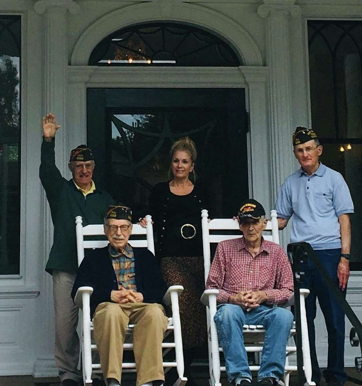 Seated, from left to right: Wally Goodman and George Ventres. Standing, from left to right Dino Calabro, Suzanne Bellagamba Brennan, and Gene Warden.