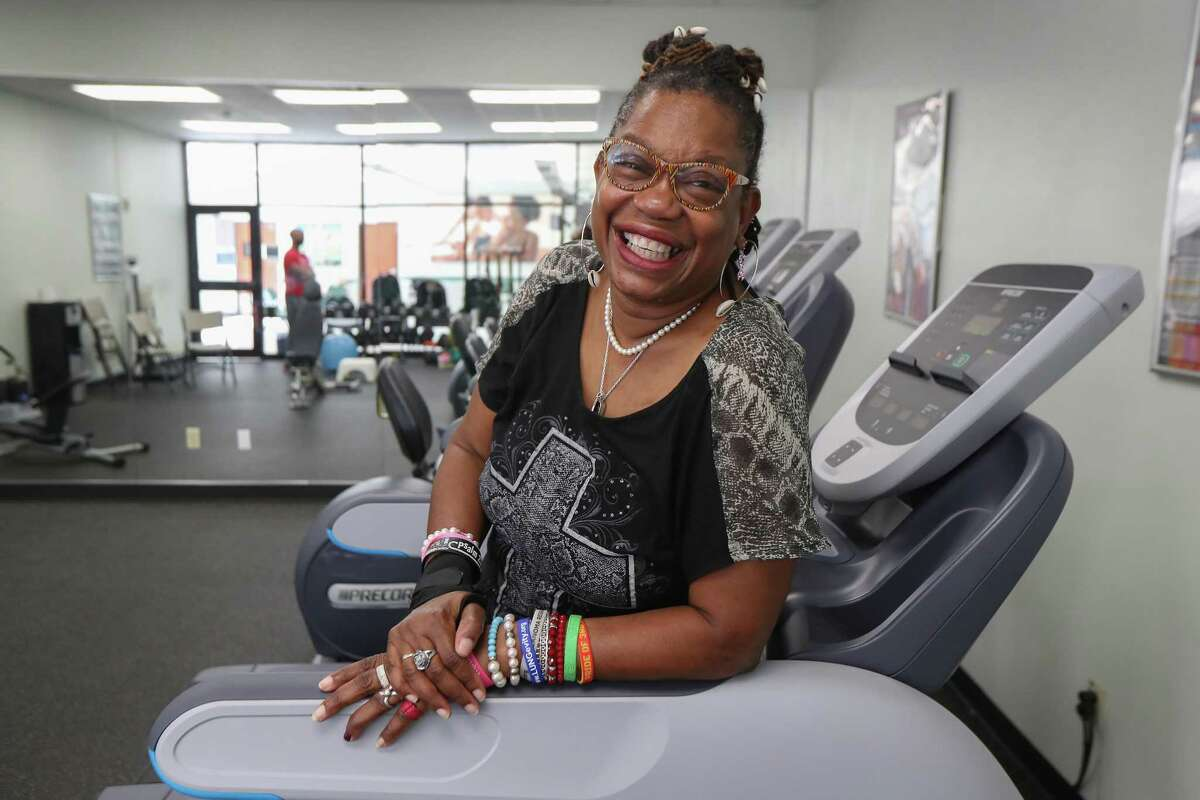 Even on days when she doesn't feel well, Sister Mama Sonya said she always has a positive outlook on life as she posed for a photo at the Dawn Center Thursday, Oct. 10, 2019, in Houston.