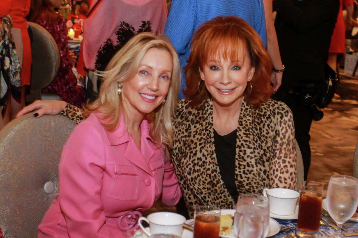 Jona Lindig, left, and Reba McEntire at the 10th annual Razzle Dazzle luncheon at the Post Oak Hotel at Uptown on October 10, 2019.