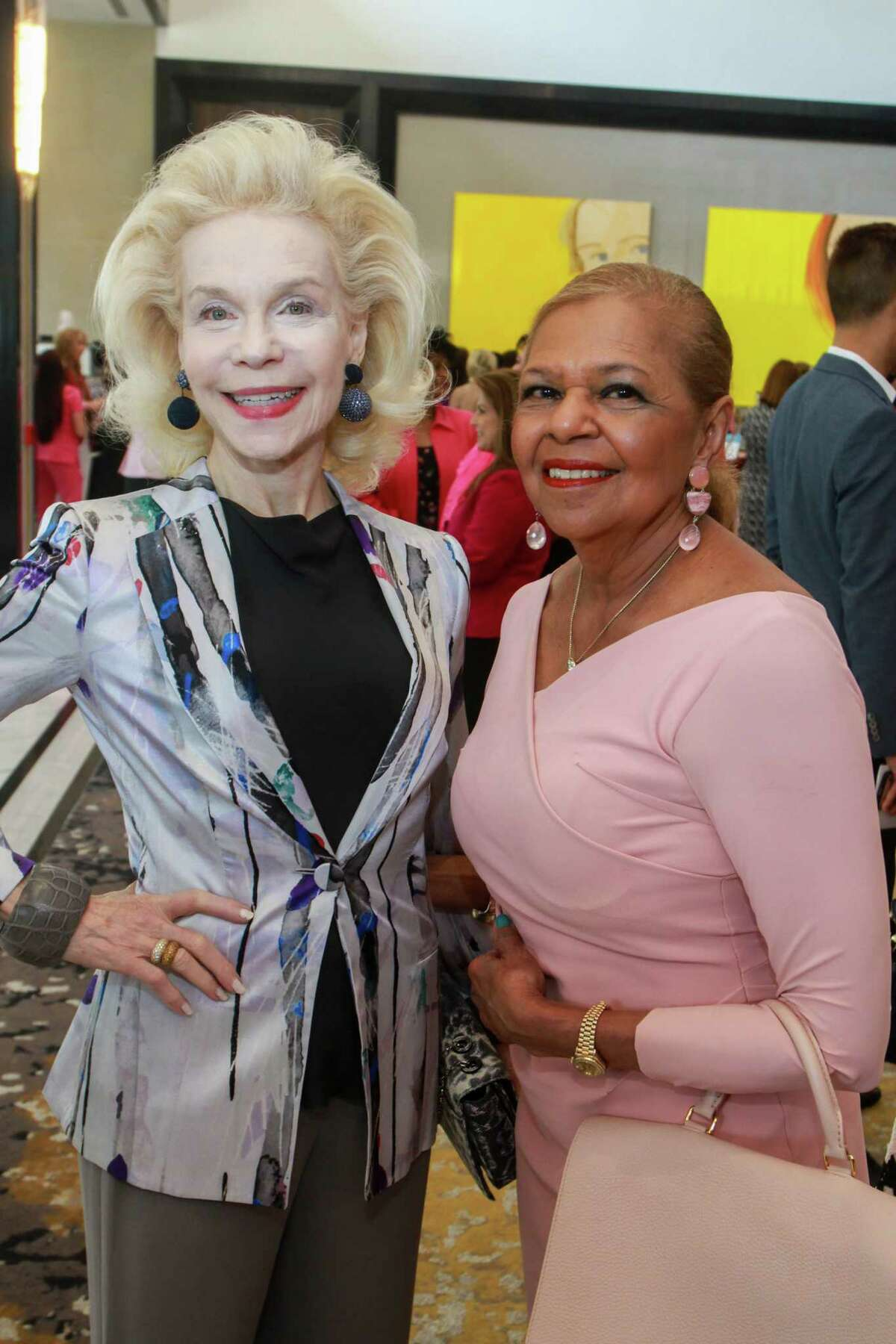 Lynn Wyatt, left, and Dr. Yvonne Cormier at the 10th annual Razzle Dazzle luncheon at the Post Oak Hotel at Uptown on October 10, 2019.