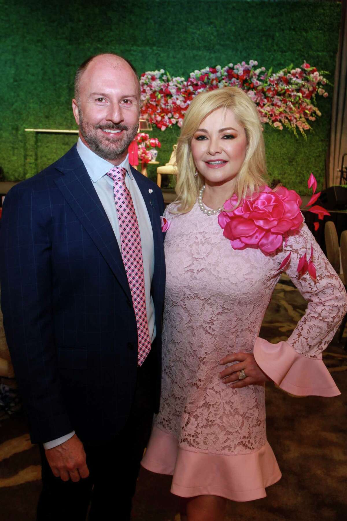 Chairs Tony Bradfield and Whitney Crane at the 10th annual Razzle Dazzle luncheon at the Post Oak Hotel at Uptown on October 10, 2019.