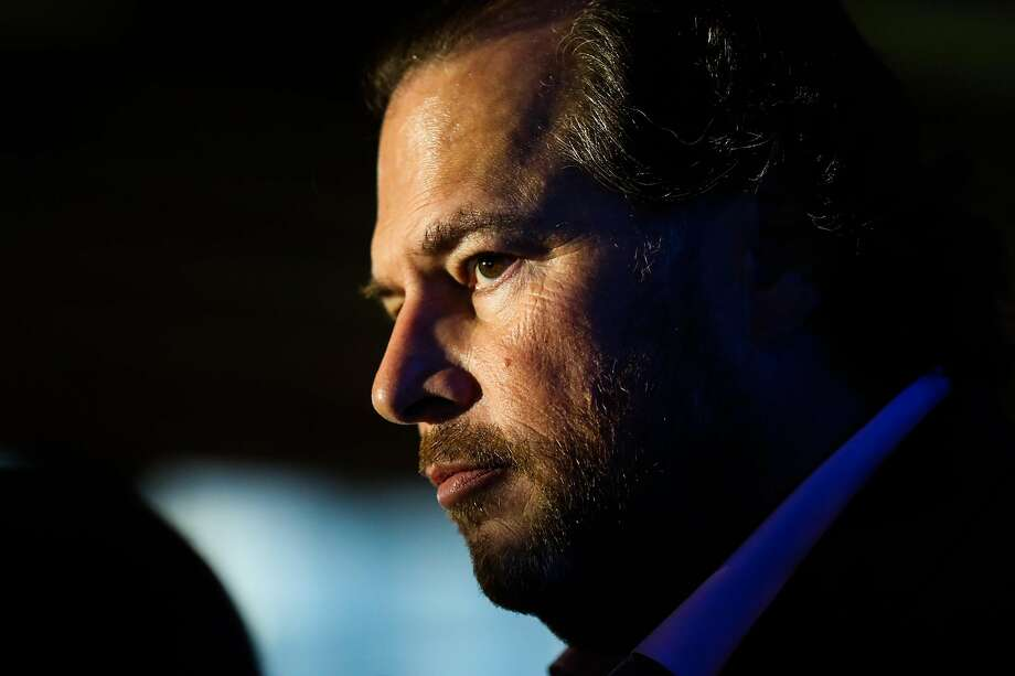 Salesforce CEO Marc Benioff. Photo: Gabrielle Lurie / The Chronicle 2018