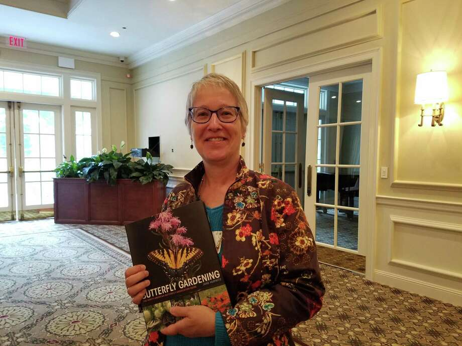 The New Canaan Beautification League met at Woodway Country Club to hear from author Jane Hurwitz about creating butterfly habitats Thursday, Oct. 3, 2019. Photo: Grace Duffield / Hearst Connecticut Media