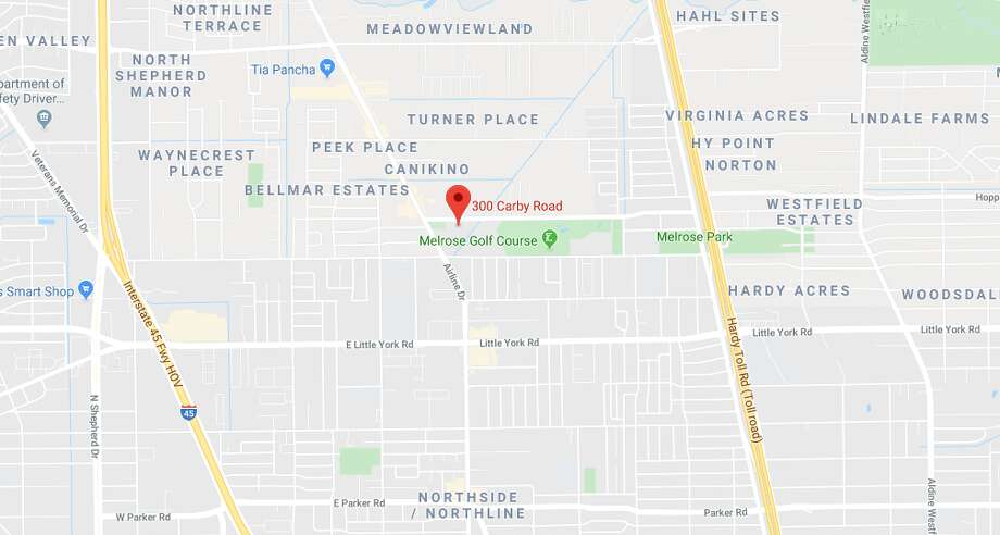 A man was shot Thursday afternoon near Melrose Park in north Houston, and deputies are searching for the suspect. Photo: Google Maps