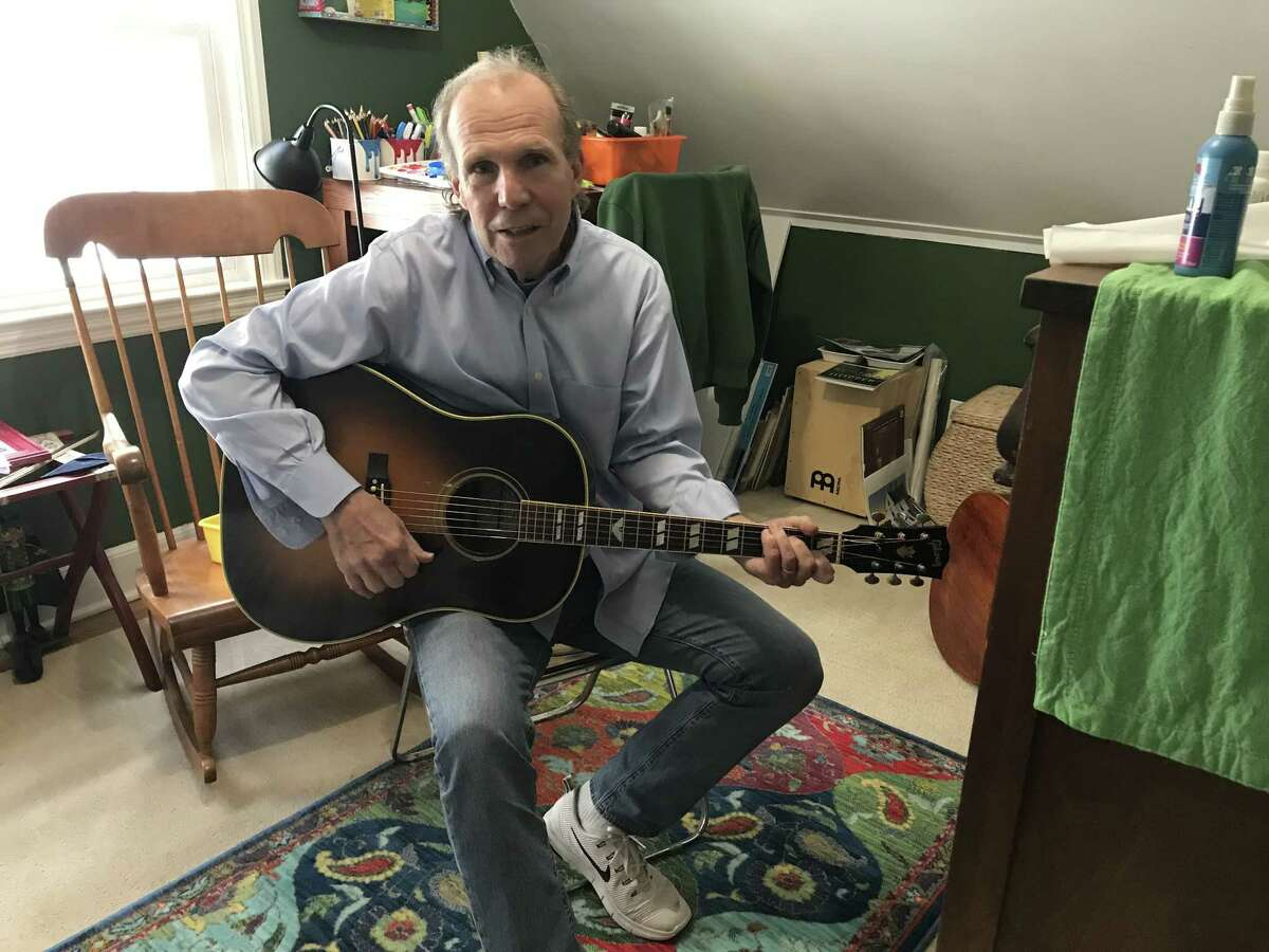 Jim Gaudet in his childhood bedroom on Kakely Street (photo by Amy Biancolli)