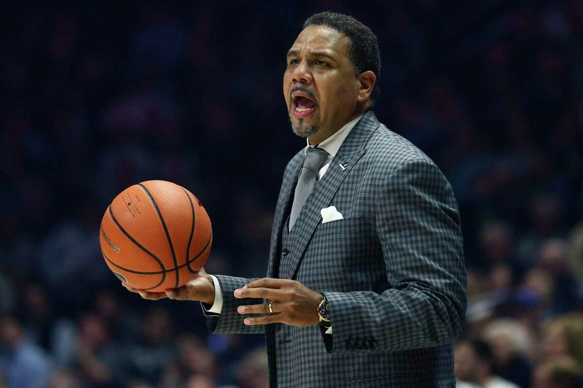 Providence head coach Ed Cooley works the bench during the first half of against Xavier last season in Cincinnati.