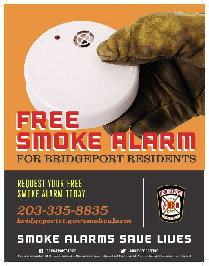 Free smoke detectors being offered to Bridgeport, Conn., residents. Photo: Contributed Photo / Bridgeport Fire Department