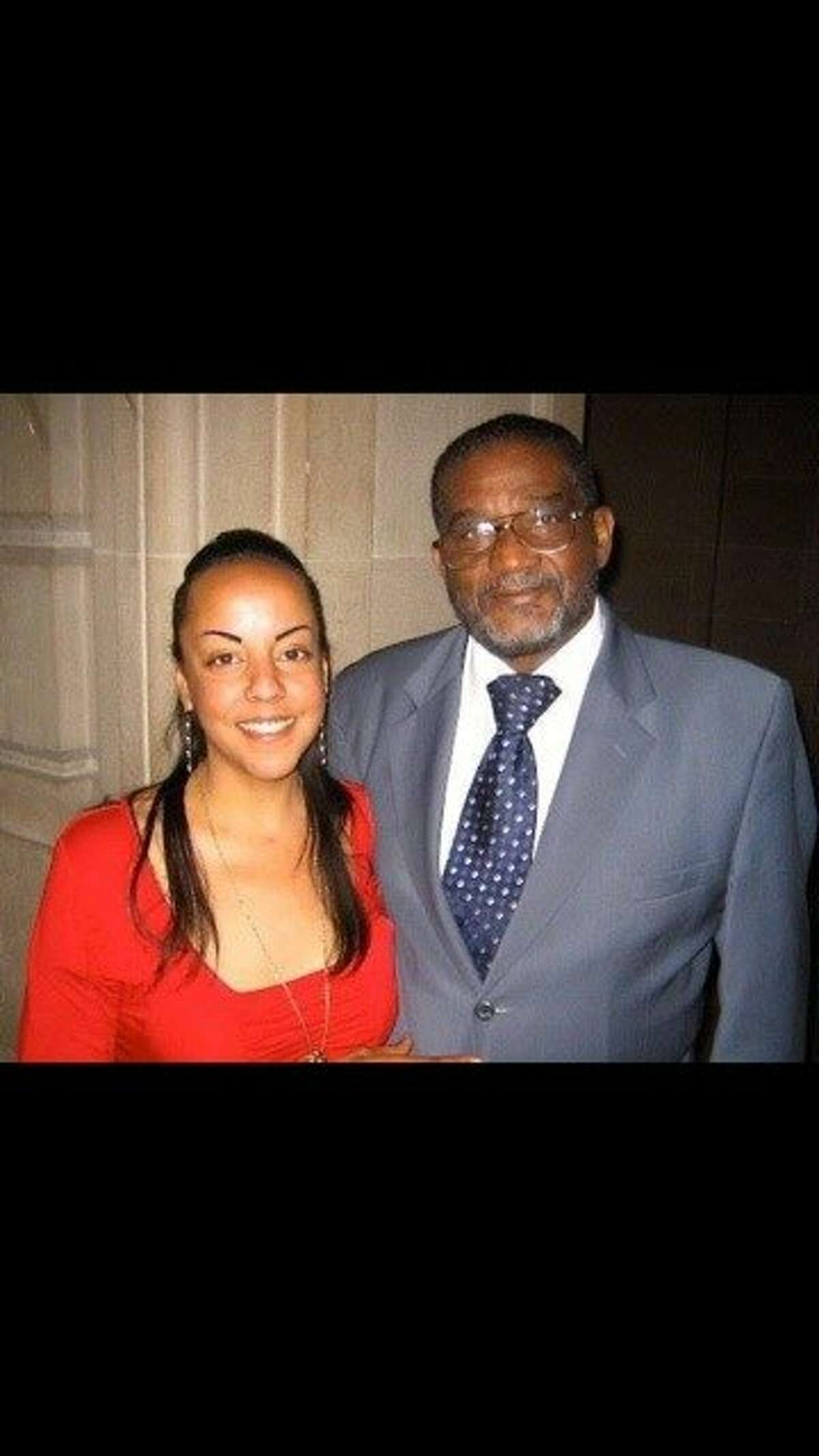 Rev. Arnold Townsend with his late daughter, Rachel Townsend