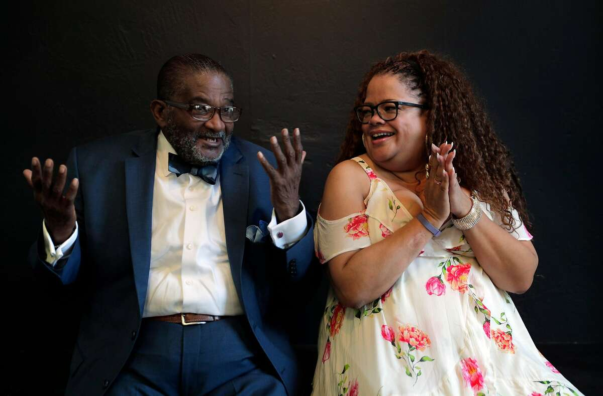 Rev. Arnold Townsend, and his daughter, Natalie Douglas, at the African American Arts & Culture Complex in San Francisco, Calif., on Monday, September 9, 2019. Townsend, a well-known leader in SF's NAACP and black church community, was devastated when his 30-something daughter died last year. But almost immediately, he received an email from Ancestry.com showing he had another daughter he knew nothing about. Douglas, a star singer, was this unknown daughter.
