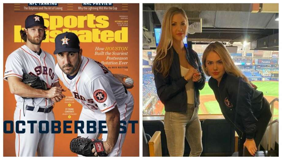 PHOTOS: Kate Upton's birthday celebration in Houston Astros pitchers, Justin Verlander and Gerrit Cole, took center stage with their iconic Sports Illustrated Cover this month, but their wives are now making headlines with this Instagram post. Photo: Sports Illustrated Cover