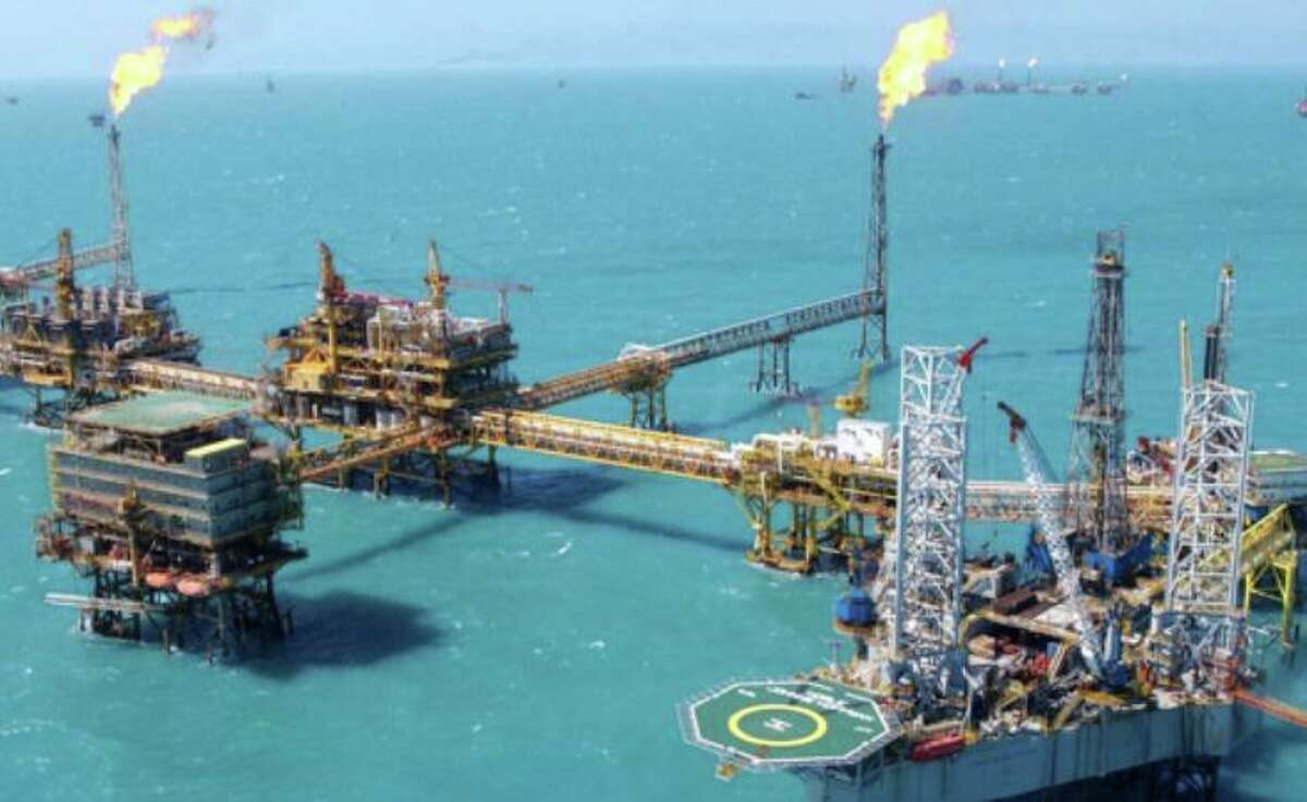 A Pemex platform in the Gulf of Mexico. Mexico's energy reforms still favor the state-owned oil company, the author notes.