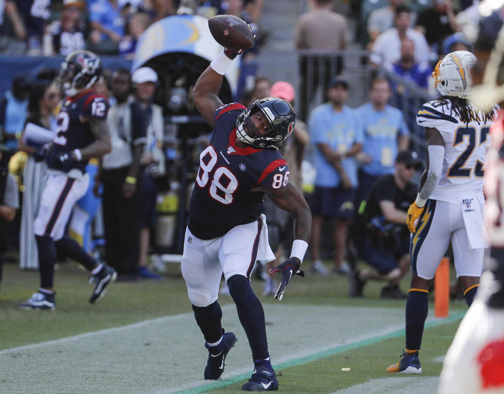 Texans identified Jordan Akins' potential at Senior Bowl all-star game