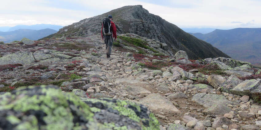 Herb Terns makes his way toward Bondcliff in New Hampshire's White Mountains. (Herb Terns / Times Union)