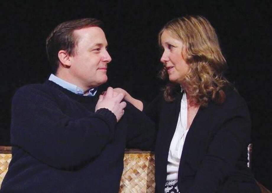"Submitted Photo Bruce Murray of Stratford and Ann Kinner of Wesport perform in Eastbound Theatre's ""Chapter Two"" by Neil Simon."